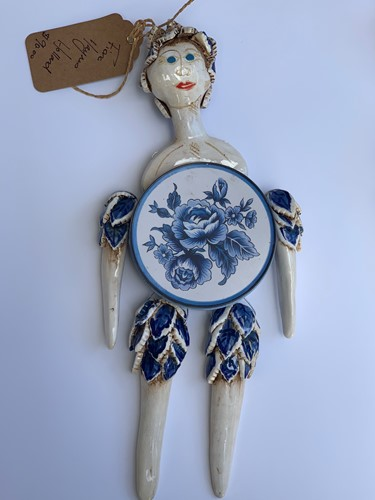Holland Hanging Tin Doll